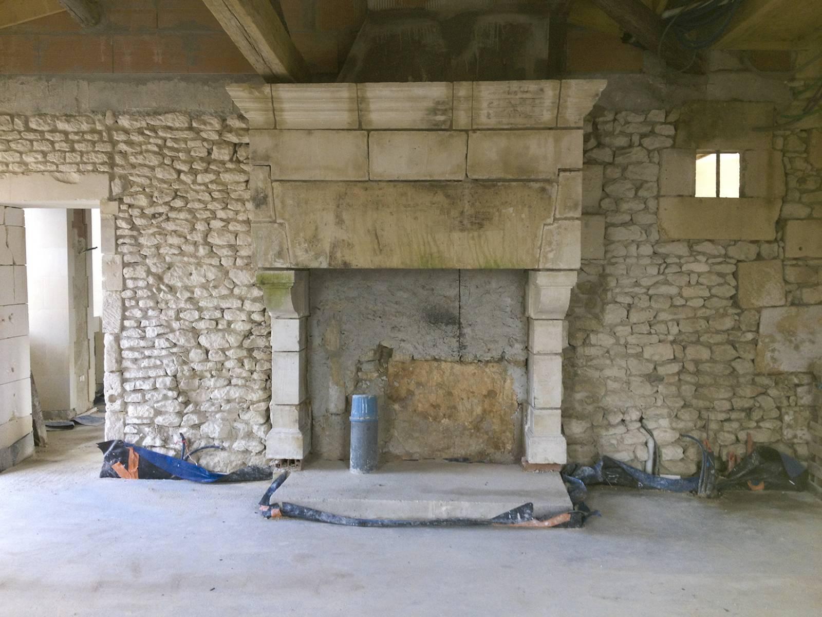 Renovation De Cheminee Ancienne rénovation d'une cheminée en pierre à langon - pose